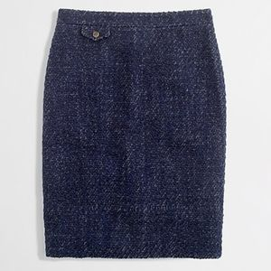 J. CREW wool blend 'No. 2 Pencil' tweed skirt